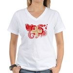 Switzerland Flag Women's V-Neck T-Shirt