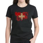 Switzerland Flag Women's Dark T-Shirt