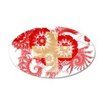 Switzerland Flag 22x14 Oval Wall Peel