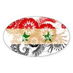 Syria Flag Sticker (Oval 10 pk)