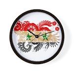 Syria Flag Wall Clock