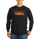 Syria Flag Long Sleeve Dark T-Shirt
