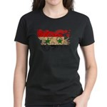 Syria Flag Women's Dark T-Shirt