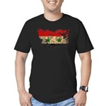 Syria Flag Men's Fitted T-Shirt (dark)