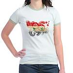 Syria Flag Jr. Ringer T-Shirt
