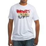 Syria Flag Fitted T-Shirt