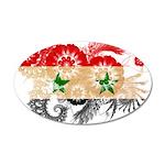 Syria Flag 22x14 Oval Wall Peel
