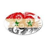 Syria Flag 22x14 Oval Wall Peel