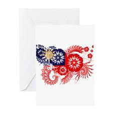 Taiwan Flag Greeting Card