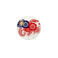 Taiwan Flag Mini Button (10 pack)