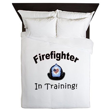 Firefighter In Training Queen Duvet