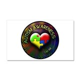 Autism Awareness - 1 in 88 Car Magnet 20 x 12
