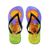 Rooster Flip Flops