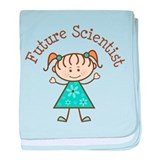 Future Scientist Girl baby blanket
