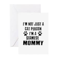 Siamese Cat Design Greeting Card