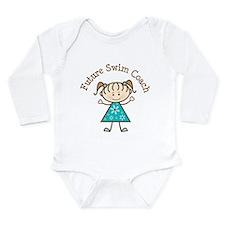 Future Swim Coach Girl Long Sleeve Infant Bodysuit