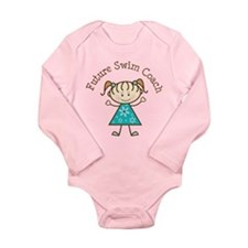 Future Swim Coach Girl Baby Suit
