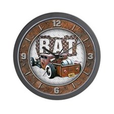 Rat Rod Truck Wall Clock