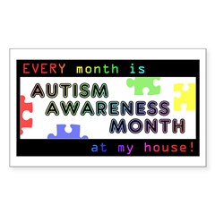 Every Month Autism Aware Sticker (Rectangle)