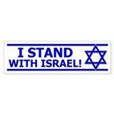 """I Stand With Israel!"" Car Sticker"
