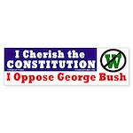 Cherish the Constitution Bumper Sticker