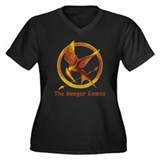 Hunger Games Vintage Women's Plus Size V-Neck Dark