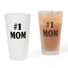 #1 MOM Drinking Glass