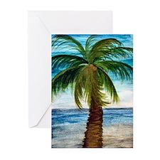 Palm Tree Blue Sky Greeting Cards (Pk of 10)