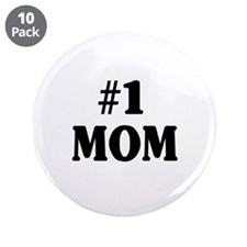 "#1 MOM 3.5"" Button (10 pack)"