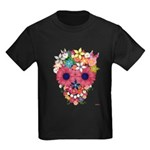 Skull Flowers by WAM Kids Dark T-Shirt