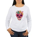 Skull Flowers by WAM Women's Long Sleeve T-Shirt