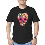 Skull Flowers by WAM Men's Fitted T-Shirt (dark)