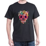 Skull Flowers by WAM Dark T-Shirt
