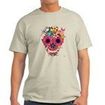 Skull Flowers by WAM Light T-Shirt