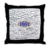 1862 Civil War Battles Throw Pillow
