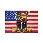 U.S.A. Rhodesia Flag Rectangle Magnet (100 pack)