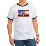 U.S.A. Rhodesia Flag Ringer T