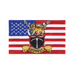 U.S.A. Rhodesia Flag 35x21 Wall Decal