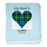 Heart - Gordon of Esselmont baby blanket