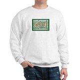 """Fish Fossil"" by Peggy Paola sweatshirt"