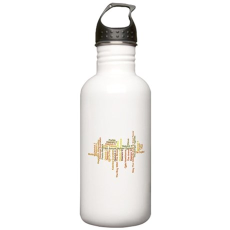 Hunger Games Words 2 Stainless Water Bottle 1.0L