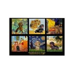 Dachshund Famous Art 1 Rectangle Magnet (10 pack)