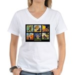 Dachshund Famous Art 1 Women's V-Neck T-Shirt