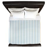 Painted Circles stripes blue King Duvet
