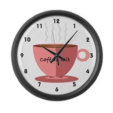 Cafe au Lait Large Wall Clock