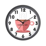 Cafe Au Lait Wall Clock