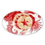 Tunisia Flag Sticker (Oval 10 pk)