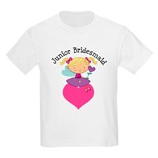 Junior Bridesmaid Fairy Wedding T-Shirt