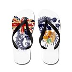 Turks and Caicos Flag Flip Flops