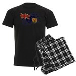 Turks and Caicos Flag Men's Dark Pajamas